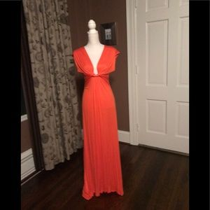 Cameo Orange Maxi Dress Size L